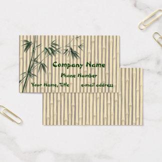 Cartão De Visitas O bambu sae da tela