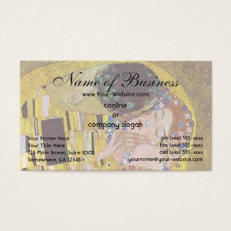 Cartão De Visitas O beijo por Gustavo Klimt