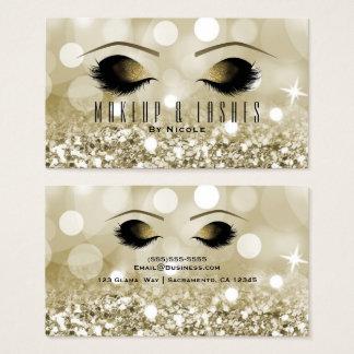 Cartão De Visitas O brilho do ouro ilumina termas da beleza das