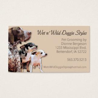 Cartão De Visitas O cachorrinho selvagem do n molhado denomina a