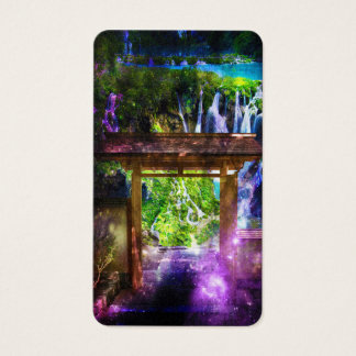 Cartão De Visitas O caminho do universo do arco-íris ao paraíso