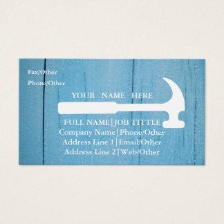 Cartão De Visitas O carpinteiro profissional do construtor utiliza