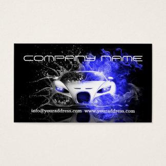 Cartão De Visitas O carro branco de competência automotriz enegrece