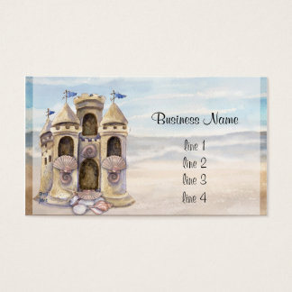 Cartão De Visitas O castelo da areia sonha o calendário 2013
