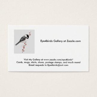 Cartão De Visitas o chickadee, visita minha galeria em