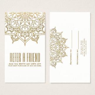 Cartão De Visitas O chique da mandala do ouro consulta uma