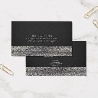 Cartão De Visitas O chique Glam moderno de prata dos Sequins