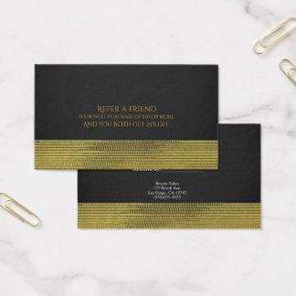 Cartão De Visitas O chique Glam moderno dos Sequins do ouro Matte