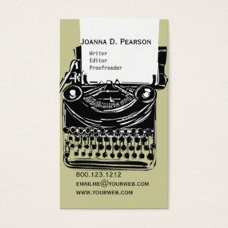 Cartão De Visitas O clique do editor do escritor da máquina de