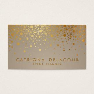 Cartão De Visitas O confete da folha de ouro do falso pontilha o
