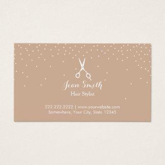 Cartão De Visitas O confete neutro pontilha a nomeação do