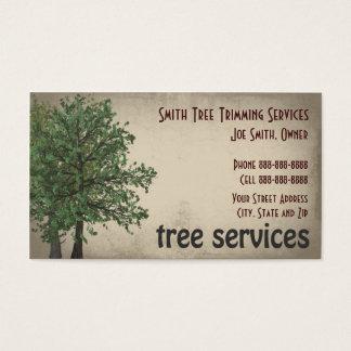 Cartão De Visitas O cuidado do aparamento da árvore presta serviços