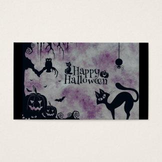Cartão De Visitas O Dia das Bruxas feliz