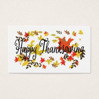 Cartão De Visitas O dia feliz da acção de graças, dá obrigados,