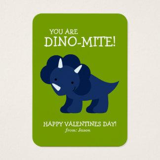Cartão De Visitas O dinossauro azul caçoa namorados da escola