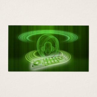 Cartão De Visitas O DJ esverdeia
