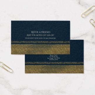 Cartão De Visitas O encanto Sparkling do chique do azul & do ouro
