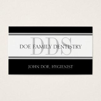 Cartão De Visitas O escritório dental listra o DDS - o cabeçalho