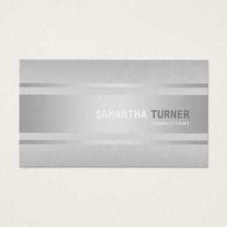 Cartão De Visitas O falso de prata elegante Textured o costume