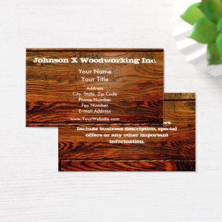 Cartão De Visitas O falso lubrificou a prancha de madeira o costume