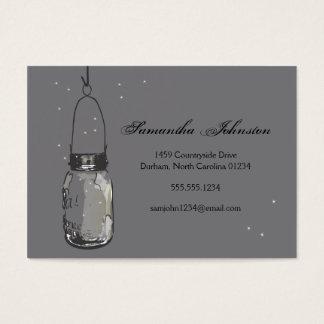 Cartão De Visitas O frasco & os vaga-lume de pedreiro do vintage