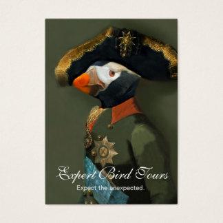 Cartão De Visitas O general adornado do papagaio-do-mar - guia do