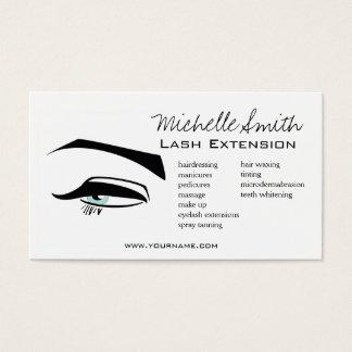 Cartão De Visitas O henna preto dos olhos azuis do Eyeliner compo o