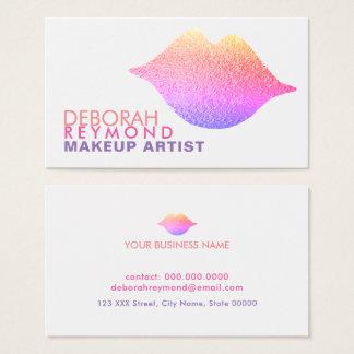 Cartão De Visitas o inclinação colore a composição da beleza dos