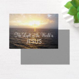 Cartão De Visitas O Jesus Cristo da cristandade espalhou a palavra