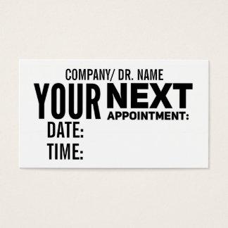 Cartão De Visitas O lembrete da nomeação carda   genérico
