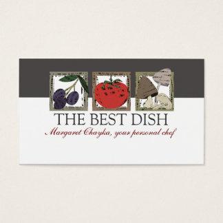 Cartão De Visitas o linóleo cortou o negócio italiano do cozinheiro