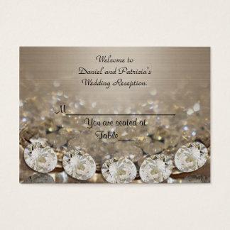 Cartão De Visitas O lugar do casamento carda diamantes