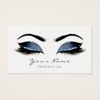 Cartão De Visitas O maquilhador azul do marinho chicoteia o branco