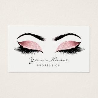 Cartão De Visitas O maquilhador da princesa Cor-de-rosa chicoteia o