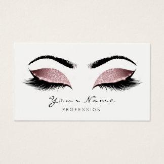 Cartão De Visitas O maquilhador do rosa do feijão vermelho chicoteia
