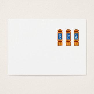 Cartão De Visitas O marcador de madeira da milha assina retro