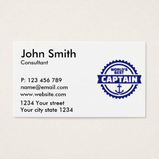 Cartão De Visitas O melhor capitão do mundo