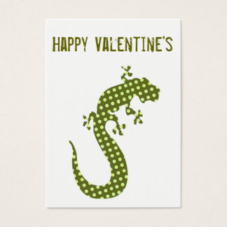 Cartão De Visitas O Minicard dos namorados do lagarto verde