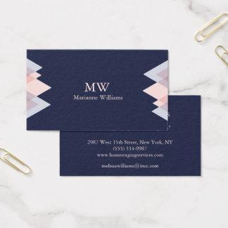 Cartão De Visitas O negócio profissional das mulheres da seta dos