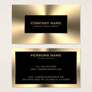 Cartão De Visitas O ouro brilhante tonifica o olhar de aço