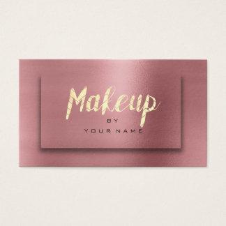 Cartão De Visitas O ouro cor-de-rosa cora o artista 3D do roteiro da