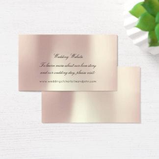 Cartão De Visitas O ouro cor-de-rosa cora Web site delicado perolado