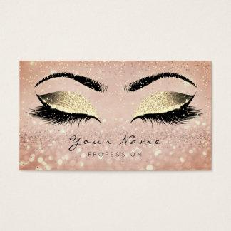 Cartão De Visitas O ouro cor-de-rosa da composição chicoteia