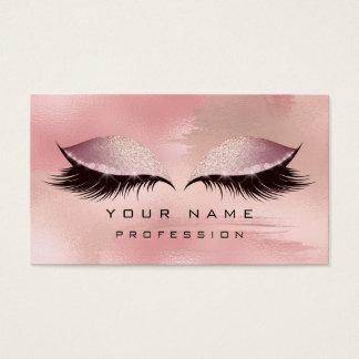 Cartão De Visitas O ouro cor-de-rosa do brilho dos chicotes dos
