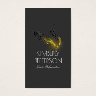Cartão De Visitas O ouro mergulhou o preto do escritor do autor das