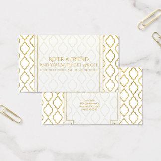 Cartão De Visitas O ouro & o marroquino árabe branco consultam um