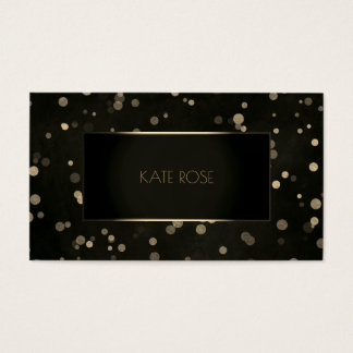 Cartão De Visitas O ouro preto mínimo pontilha o encanto do quadro