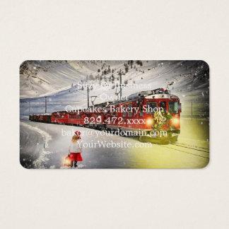 Cartão De Visitas O papai noel expresso do Pólo Norte - trem do