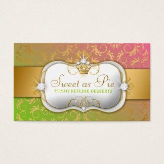 Cartão De Visitas o pirulito divino dourado de 311-Ciao Bella