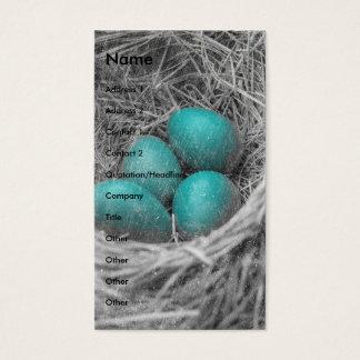 Cartão De Visitas O pisco de peito vermelho Eggs o Grunge